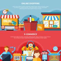 Set di volantini per l'e-commerce