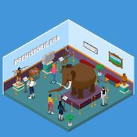 Illustrazione isometrica Museo storico vettore