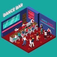Composizione isometrica di Dance Bar vettore