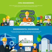 Set di banner di ingegneria civile