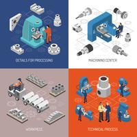 Concetto di design isometrico di industria pesante vettore