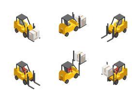 Set di carrelli elevatori vettore
