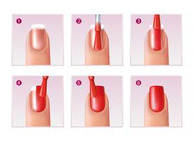 Set di processi per manicure