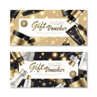 Design di voucher regalo cosmetico