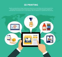 Concetto di progettazione volumetrica della stampante