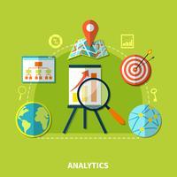 Composizione di simboli di Web Analytics vettore