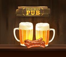 Illustrazione di birra pub