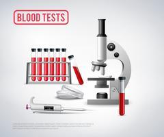 Analisi del sangue Imposta sfondo vettore