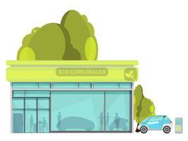 illustrazione piatta di auto electro vettore