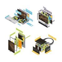 Set di schemi di gadget vettore