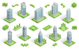 Composizione di case di città vettore