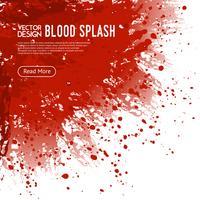 Poster di design di pagina web sfondo di sangue splash vettore