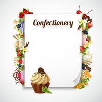 Cornice decorativa confetteria vettore