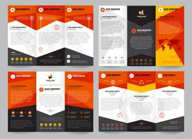 Set di modelli di brochure vettore