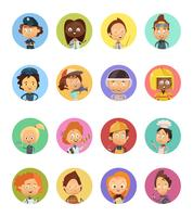 Set di avatar di Cartoon di professione persone