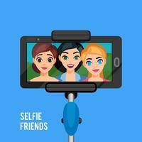 modello di foto selfie vettore