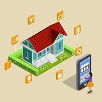 Concetto di controllo remoto della casa