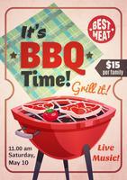 poster ristorante barbecue time