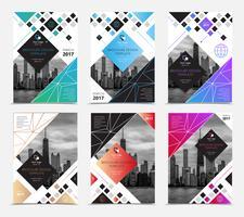 Set di copertine di brochure aziendali