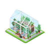 Composizione isometrica della serra