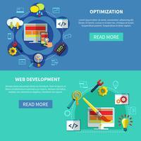 Set di banner di ottimizzazione Web vettore