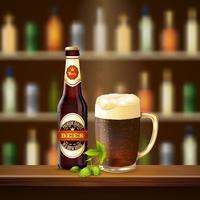 Illustrazione di birra realistico