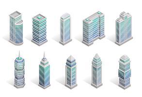 Set di case di città vettore