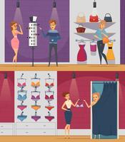 Cercando lo shopping piatto Persone composizioni