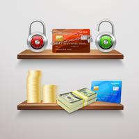 Collezione di finanze realistiche vettore