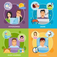 Set di composizioni per disturbi del sonno vettore