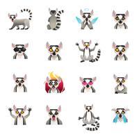 Collezione di icone mezza scimmia vettore