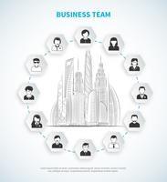 Illustrazione della squadra di affari vettore