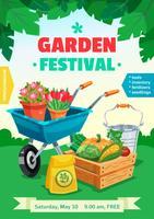 Poster del Festival del giardino vettore