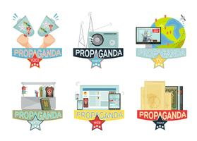 Set di icone di propaganda