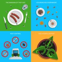 Set di concetto di peste vettore