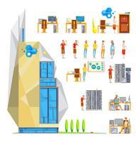Set di costruzioni per ufficio IT