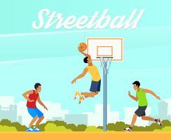 Illustrazione di pallacanestro di strada