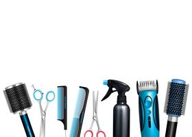 Sfondo strumenti di parrucchiere vettore