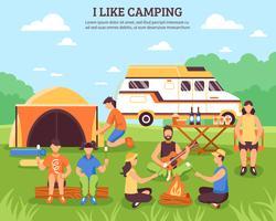 Mi piace la composizione in campeggio