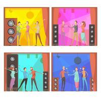 Set di composizioni per karaoke vettore
