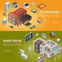 Insegne isometriche della casa intelligente vettore