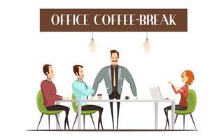Illustrazione di pausa caffè ufficio vettore