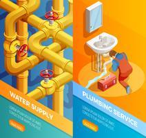 Bandiere isomeriche di fornitura di impianti idraulici di approvvigionamento idrico vettore