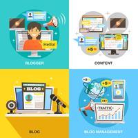 concetto di design quadrato blogger