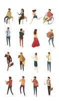 Set di icone isometriche di persone