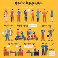 Illustrazione di infografica hipster vettore