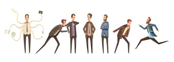 Set di personaggi dei cartoni animati vettore