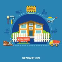 Concetto di rinnovo della casa vettore