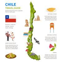 Layout di infografica Cile con mappa