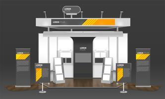 Exhibition Case Design Composizione 3D vettore